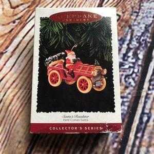 Hallmark collectors series Santa roadster 1995
